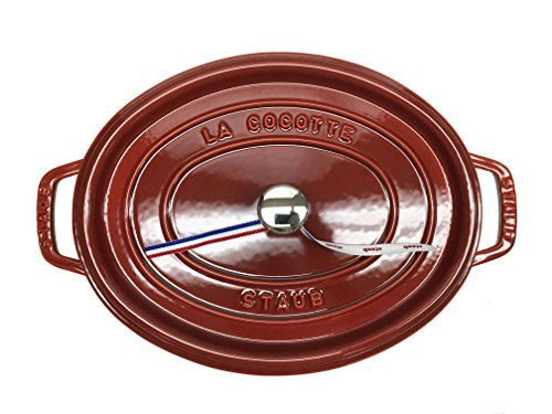 Staub Oval Oven 7QT, Red by Staub