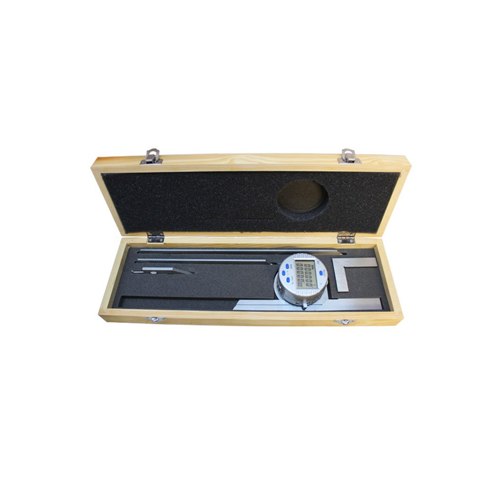 Electronic Digital Protractor Stainless Steel 6'' 12'' Blade 0-360 Degree 30'' Res