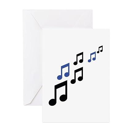 Amazon Cafepress Music Notes Symbols Greeting Card Note