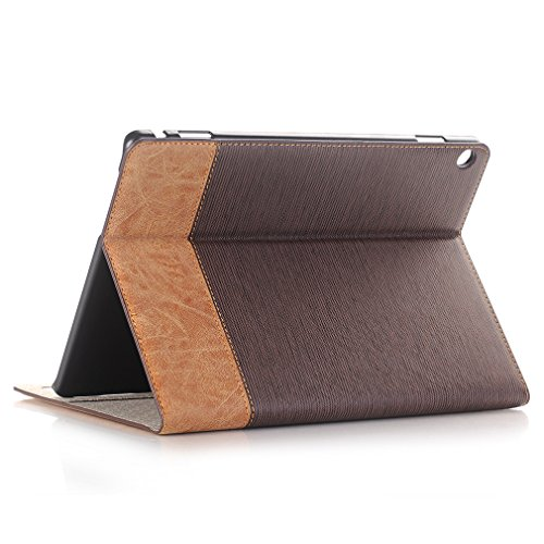 10 Card Sleep Closure Ultra Auto Leather Thin Function for Leather MediaPad Case PU M3 Huawei Bookstyle 10 Wake Grain Crocodile and Slot Inch Cover of Business Dark 2 Brown Stent Folding Lite 1 Magnetic LMFULM 407ZxqZ