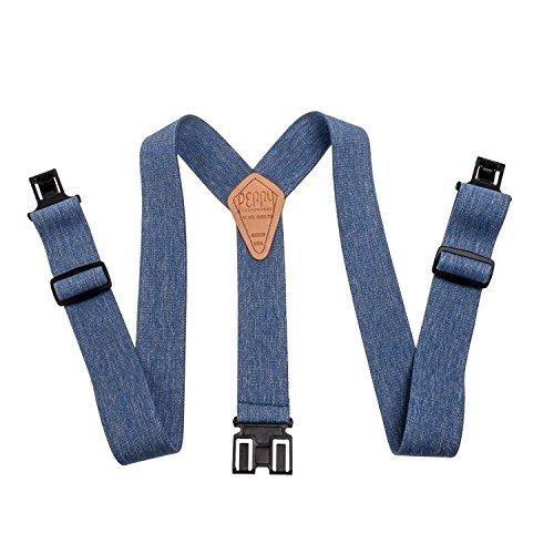 erry Hook-On Belt Suspenders Big N Tall - The Original - Denim Blue - 2W x 54L