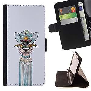 For Samsung Galaxy Note 4 IV Case , Gráfico de la mano del personaje interesante- la tarjeta de Crédito Slots PU Funda de cuero Monedero caso cubierta de piel
