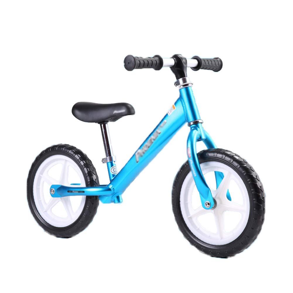 ペダルなし自転車 キッズバランスのバイク、軽量ノーペダルを学ぶプレ自転車、調整可能なシート付き (色 : 青) B07LCP42QW  青, コサザチョウ 8bf5725f
