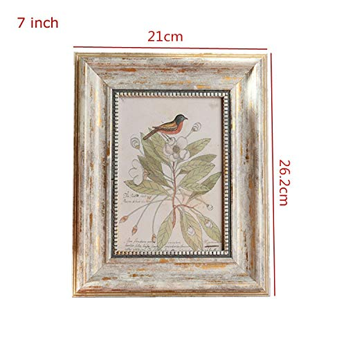 Glass figurines Picture Frame - Retro Photo Frame Vintage Photo Frames for Picture Square 4/6/7/10 Inch Creative Picture Frame Combination Quadros Decorativos