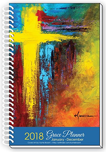 2018 CROSS ART Inspirational Christian Daily Planner January To December Year Day Planners Weekly Monthly Calendar