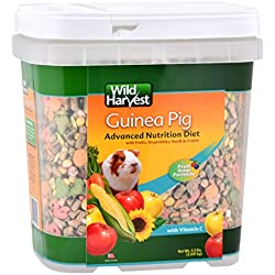 Wild Harvest WH-83545 Advanced Nutrition Diet for Guinea Pigs, 4.5-Pound