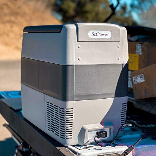 Outdoor Van Patio RV Road Trip Car Fridge Compact Refrigerator Camping Setpower AJ30 32 Quarts Portable Freezer Fridge 12V Cooler BBQ Picnic AC 110-240V DC 12//24V 0℉-50℉ for Truck