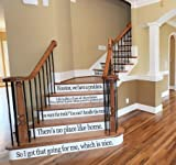 Movie Quote Set LARGE Assorted Sayings Vinyl Stairs or Wall Decal [BLACK] Film Cinema Classic Famous Inspiring Home Décor Welcome Housewarming Wedding Anniversary Birthday Gift