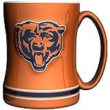 NFL Chicago Bears 14-ounce Sculpted Relief Mug Alternate Color, Orange
