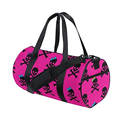 9a13152ae30c 70%OFF Naanle Skull With Colorful Bow Cross Bone Pattern Pink Gym ...