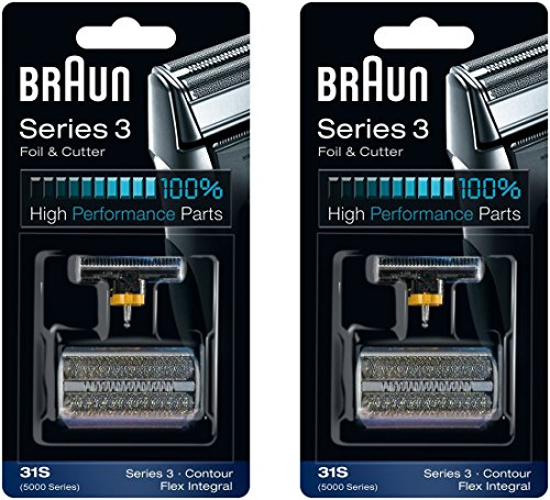 31S BRAUN 5000/6000 Series Contour Flex XP Integral Shaver Foil & Cutter Head Replacement Combi Pack, 2 Count
