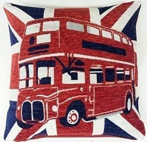 CAPITAL Londres relleno rojo blanco azul Elgate algodón tamoxifeno 45,72 cm Cojín