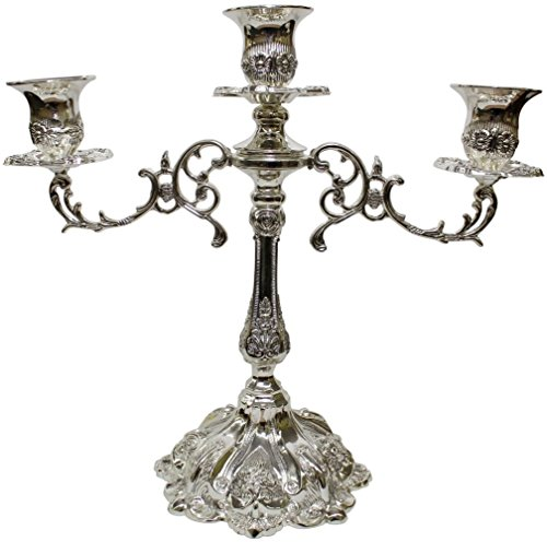 5th Avenue Collection Silver Plated Candelabra 3 Branch - 12
