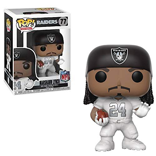 Funko Marshawn Lynch [Oakland Raiders Rush]: NFL x POP! Football Vinyl Figure & 1 PET Plastic Graphical Protector Bundle [#077 / 31730 - ()