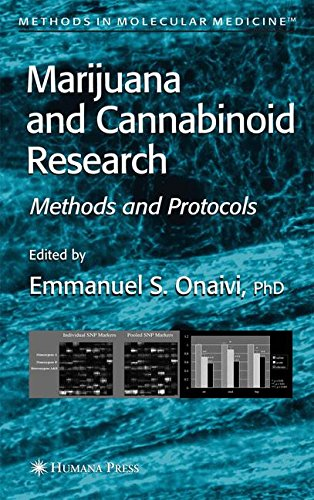 Marijuana And Cannabinoid Research  Methods And Protocols  Methods In Molecular Medicine