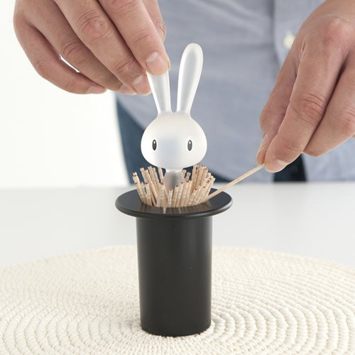 Alessi ASG16 B''Magic Bunny'' Toothpick Holder, Black by Alessi (Image #5)