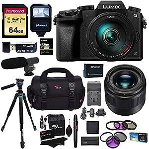 Panasonic G7HK 4K Digital Single Lens Mirrorless Camera 14-140mm Lens Kit, Panasonic H-H025K LUMIX G 25mm/F1.7 Lens…