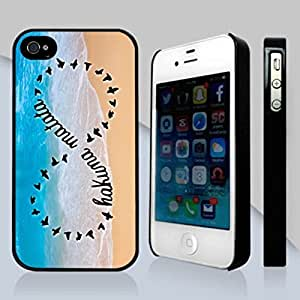 Pink Ladoo? Custom Hakuna Matata Skin Personalized Custom Hard CASE for iPhone 4 4s Durable Case Cover