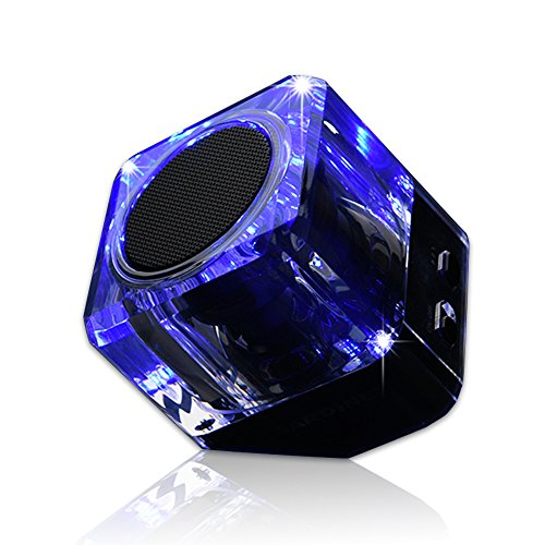 SARDiNE Mini Bluetooth Speaker, Hi-Fi Portable Wireless Stereo Speaker, Speakers with Led , Built-in Mic, Support tf Card, Works for iPhone, iPad,Nexus, Laptops and More