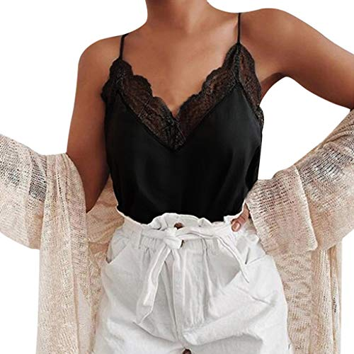 Coedfa Tank Top for Women,✿Fashion Women Casual Vest Sleeveless V-Neck Camisole Short Tank Tops Blouse