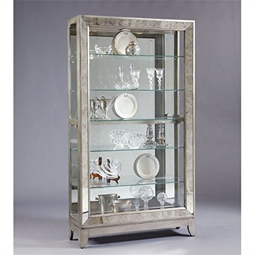 (Beaumont Lane Side Entry Curio Cabinet in Platinum)