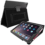 iPad Air (iPad 5) Case, Snugg™ - Smart Cover with Flip Stand & Lifetime Guarantee (Black Leather) for Apple iPad Air (2013)