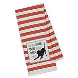DII Dog Applique Stripe Dish Towel (Labrador)