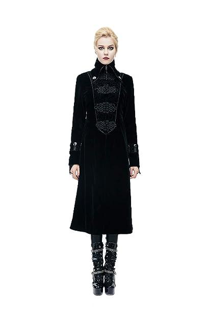 Veste Gothique Devil Velveteen Hiver Femmes Vampire Fashion Longue fwa70q