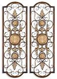 Uttermost Micayla Metal Panels in Distresed Chestnut Brown (Set of 2)