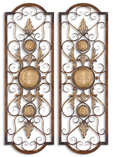 Grace Feyock Micayla Panels Wall Art - Set of - Wall Metal Chestnut