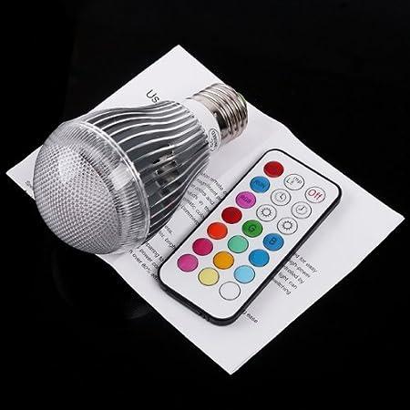 Proyector LED RGB colorido Sonline 9 W E27 350 lm Bombilla ...
