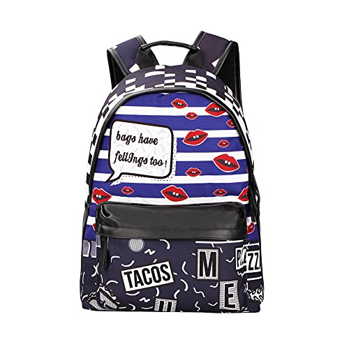 Coolest Unique Fashion Games Print Backpack, 20L Water-proof Durable Daypack, Multi-Pocket fits iPad tablets and 15'' Laptop, Travel Casual School Gym Camping Beach Party Sports Outdoor bag by Ubeyou