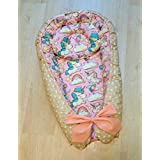 Baby Nest Baby Pillow Baby Bed Cotton Crib Bedding Newborn Gift Unicorn
