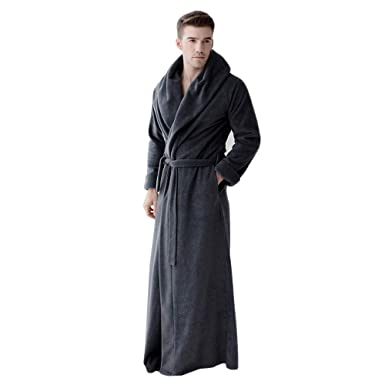 4e31e886ed 7 VEILS Men Plus Size Big Collar Microfleece Bathrobes at Amazon ...