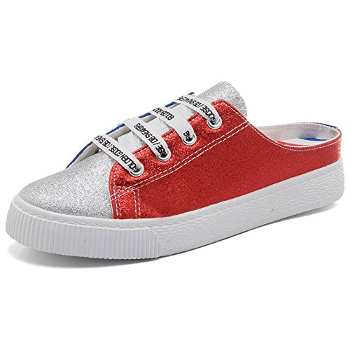 Girls Students Retro Iangl Wear Shoes Hong Slippers paillettes Half No Summer Bai qwwE7I