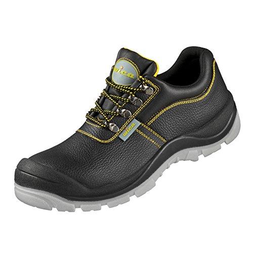 Sicherheits-Halbschuh Sicherheits-Schuh Arbeitsschuh LAGO ÜK EN ISO 20345 S3 SRA - schwarz, gelb abgesetzt - Größe: 46