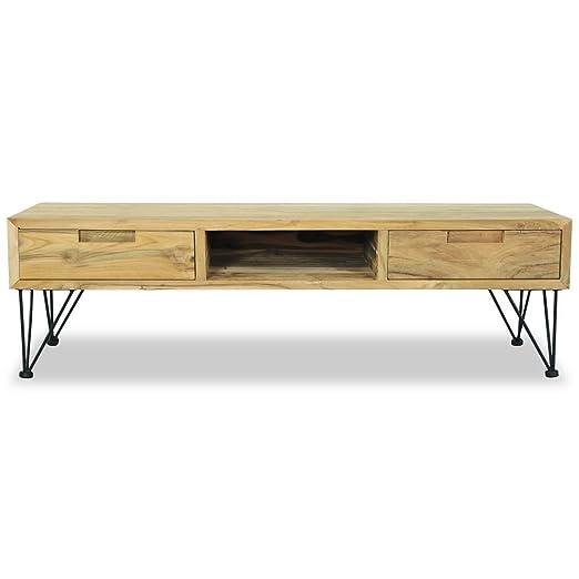 Festnight Mueble de TV con 2 Cajones y 1 Compartimento de ...