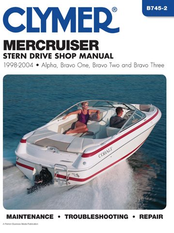 CLYMER MANUAL, MERCRUISER STERN DRIVE 98-04, Manufacturer: CLYMER, Manufacturer Part Number: B7452-AD, Stock Photo - Actual parts may vary. by Clymer