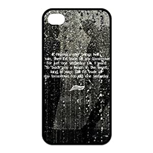 Two for One,2 Cases!$ 9.99!Case for iPhone 4 4s,Black/White Sides,Classic Style Customzie Unique Design iPhone 4s Cases ,TPU Material,Fall Out Boy