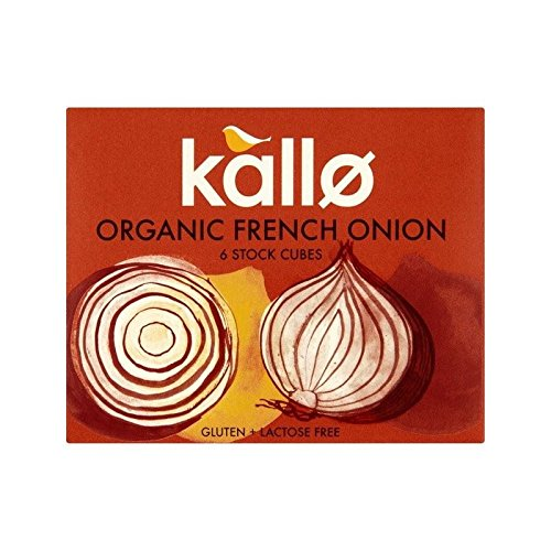 Kallo Organic French Onion Stock Cubes 6 x 11g - (Pack of 4)