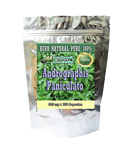 180 Caps. Andrographis Paniculata-king of Bitter-kalmegh 500 Mg. Herb 100%