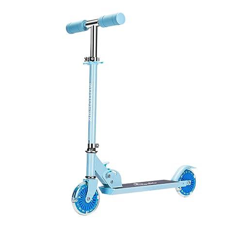 ZAQI Patinetes Scooter Rosado/Azul for niñas o niños ...