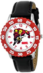 Marvel Kids' W000119 Iron Man Stainless Steel Time Teacher Watch