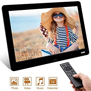Digital Photo Frame,2019 Newest SSA 8.2 inch 1280 x 720 High Resolution Full IPS Photo/Music/Video Player Calendar Alarm, Unique Interface Remote Control