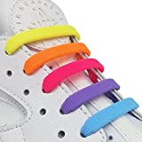 INMAKER 3 Sizes Elastic No Tie Shoelaces for Adults Kids Cool Multi-color Silicone Shoelaces for Sports Fans of All Ages (Adults Size/Colorful)