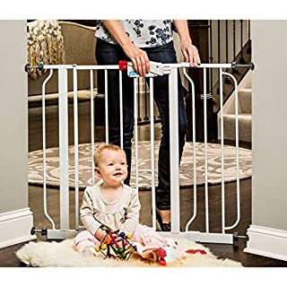 Regalo Easy Step Extra Wide Walk Thru Baby Gate, Includes Extension Kit, Pressure Mount Kit, Wall Cups and Mounting Kit (1 Box (38.5-Inch)