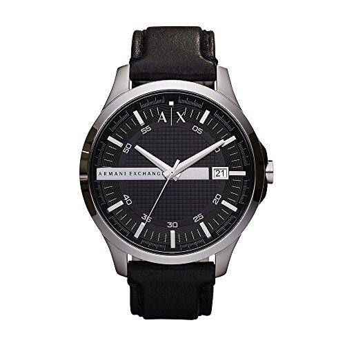 Armani Exchange Men's Analog Quartz Watch with Leather Strap AX2101