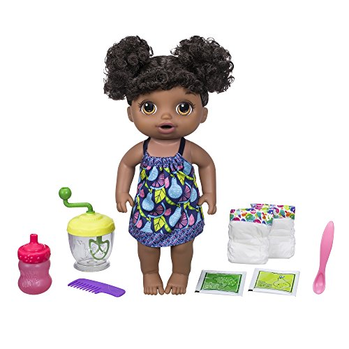 Baby Alive Sweet Spoonfuls Baby Doll Girl (Black Hair)]()