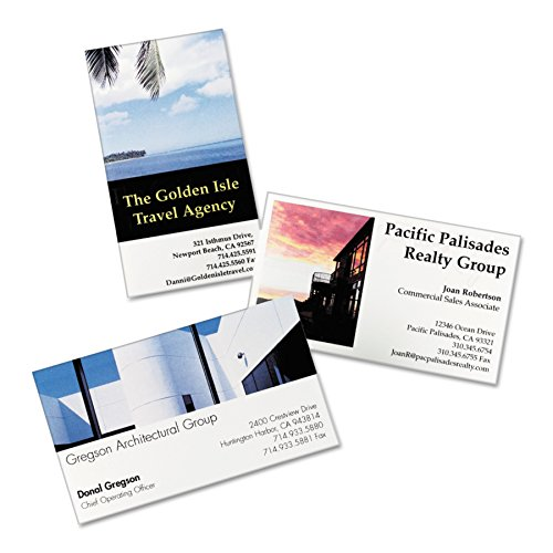 Avery 8373 Print-to-the-Edge Microperf Business Cards, Inkjet, 2x3 1/2, White, Gloss (Box of 200) by Avery (Image #1)