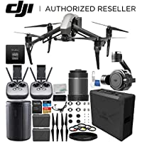 DJI Inspire 2 Quadcopter (CinemaDNG and Apple ProRes Licenses Included) with Zenmuse X7 Camera, 16mm f/2.8 ASPH ND Lens & Extra Remote Controller Transmitter Bundle